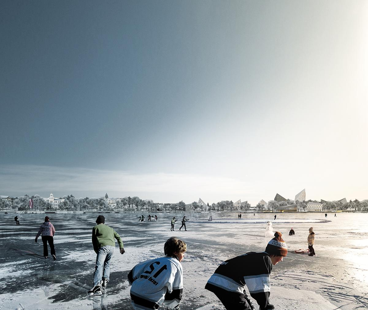 Sport and leisure activities will be at the heart of the regeneration plans / COBE