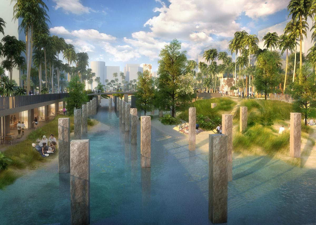 A new artificial beach will be created along the canal / APLUS CG