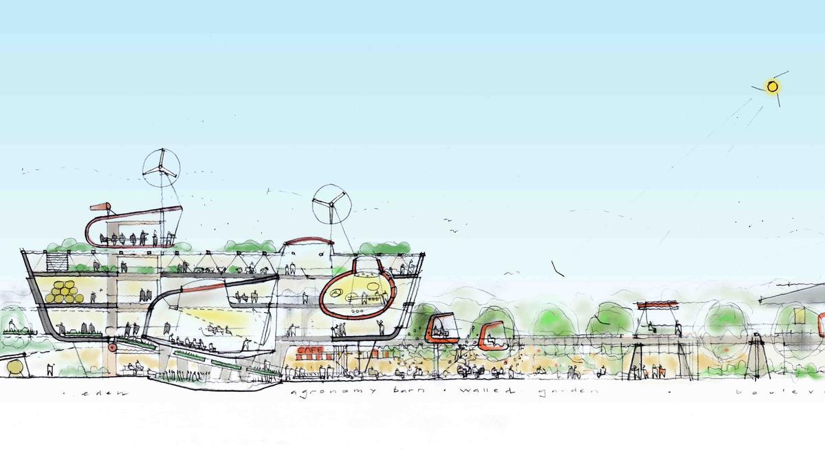Eden Westwood would comprise a tourism and leisure complex near Tiverton in Devon / Eden Project