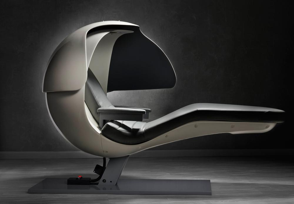 Users of the zero gravity EnergyPod can recharge with a 20-minute nap