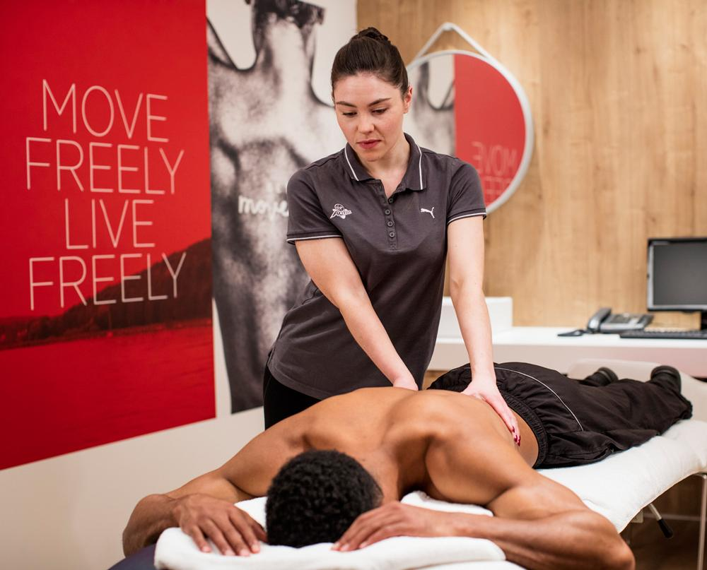 Some clubs now offer physiotherapy and sports massage