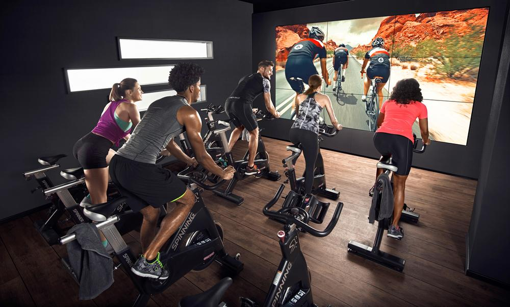 Users are introduced to virtual fitness in a highly compelling way
