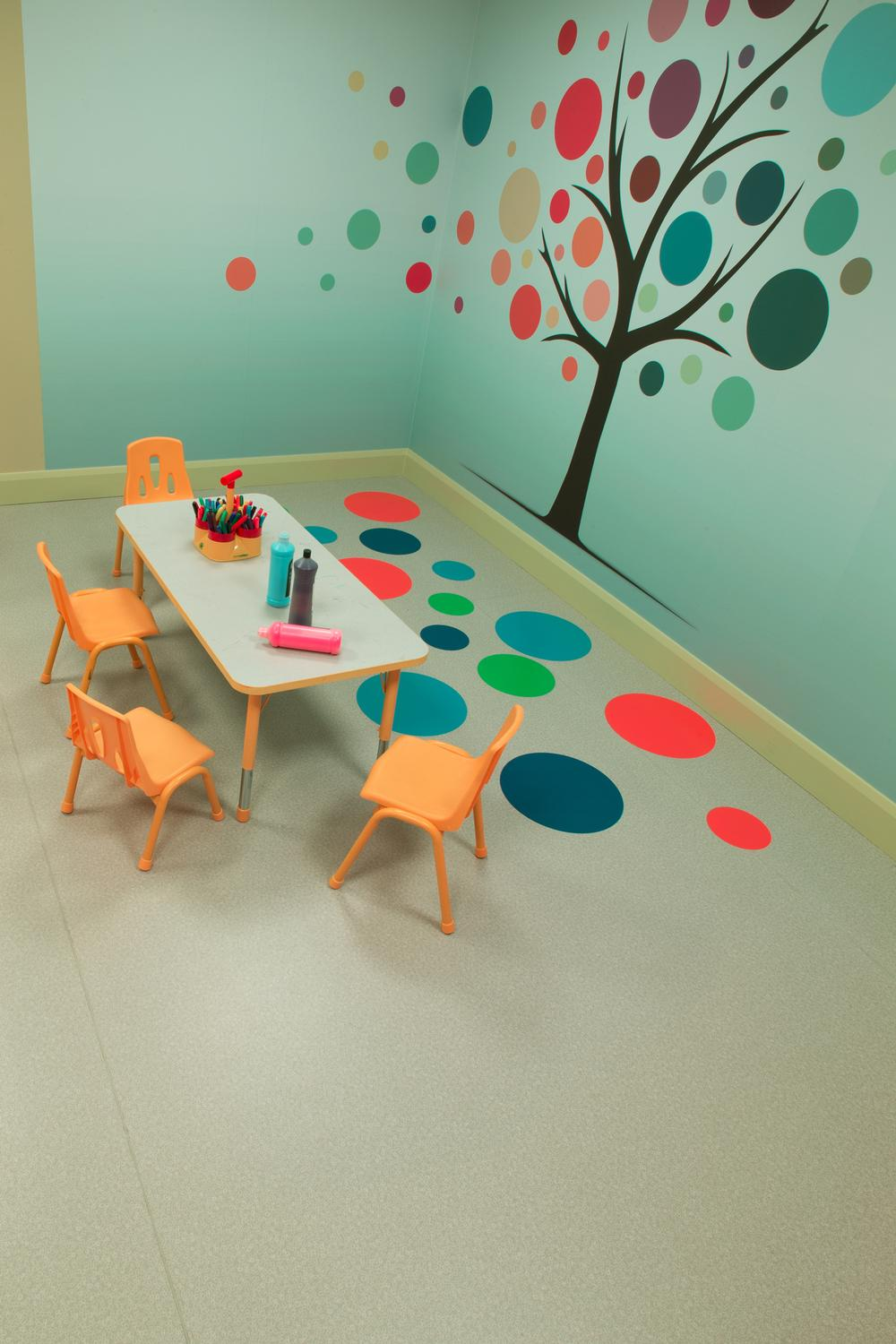 Colourful Taralay is ideal for children's areas