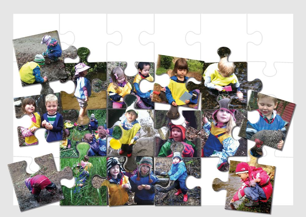 Tiny Treks children get involved with activities such as digging, weeding and planting seeds