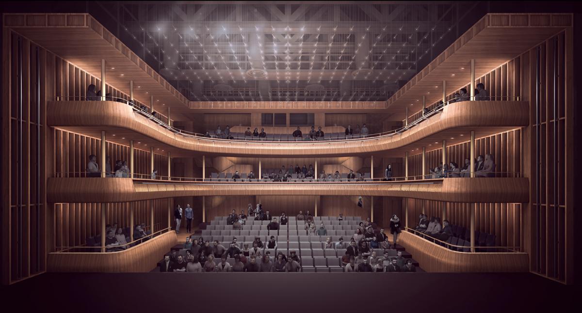 The Linbury Studio Theatre will receive a through revamp / Stanton Williams