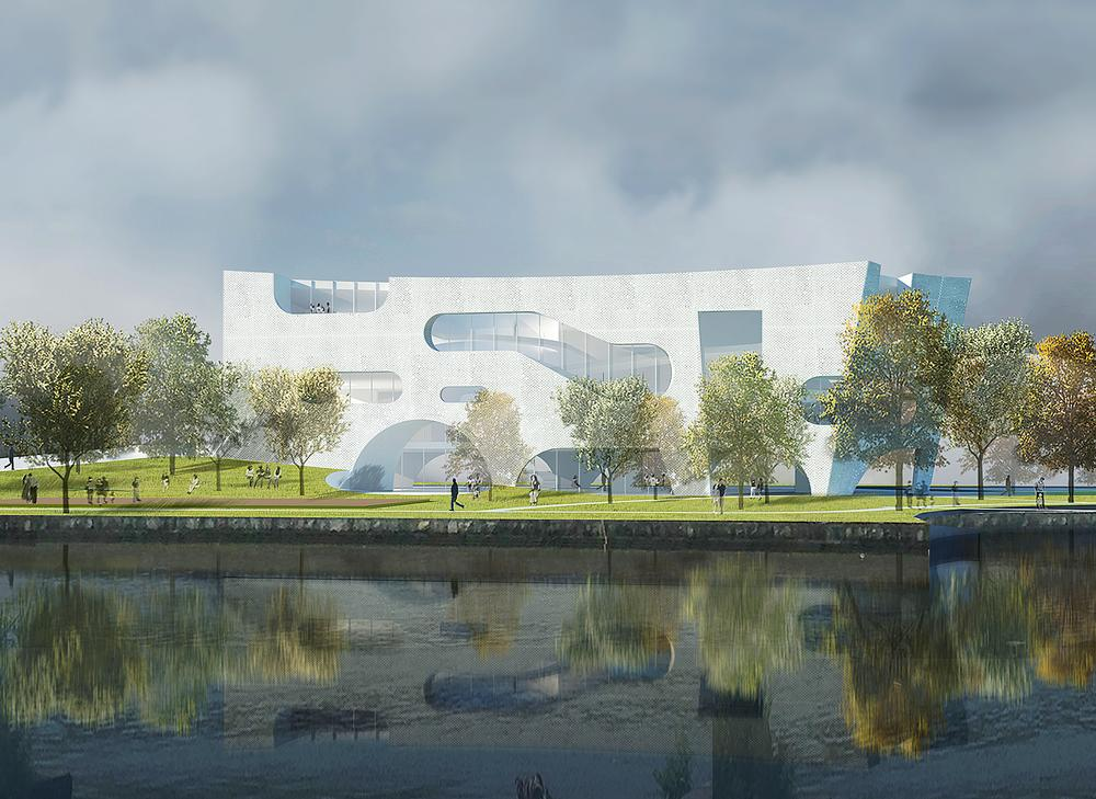 Future projects include The Shanghai Cofco Cultural & Health Center, inspired by concepts of clouds and time / PHOTOS: Steven Holl Architects