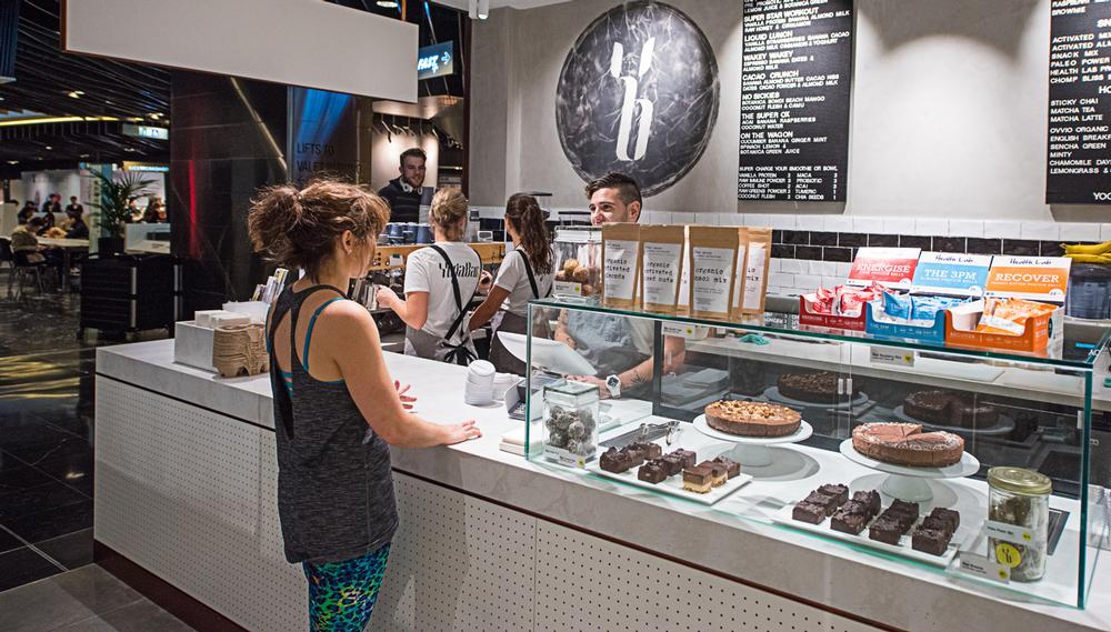 The first YogaBar has a wholefoods café on-site