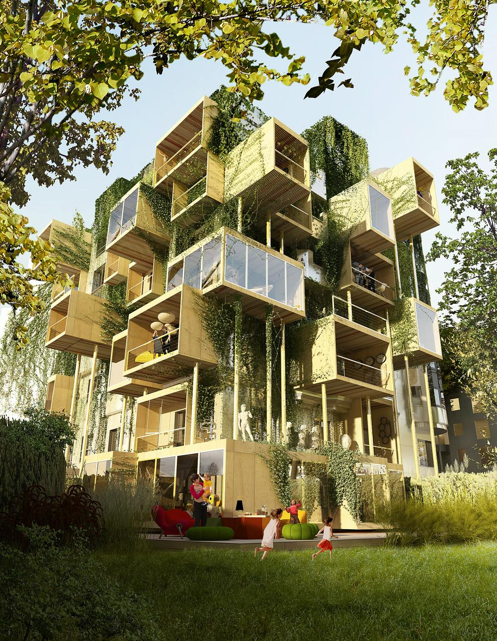 Parasitic architecture is quick to build, and Malka said Plug-In City 75 will be completed in Q1 2018 / Malka Architecture