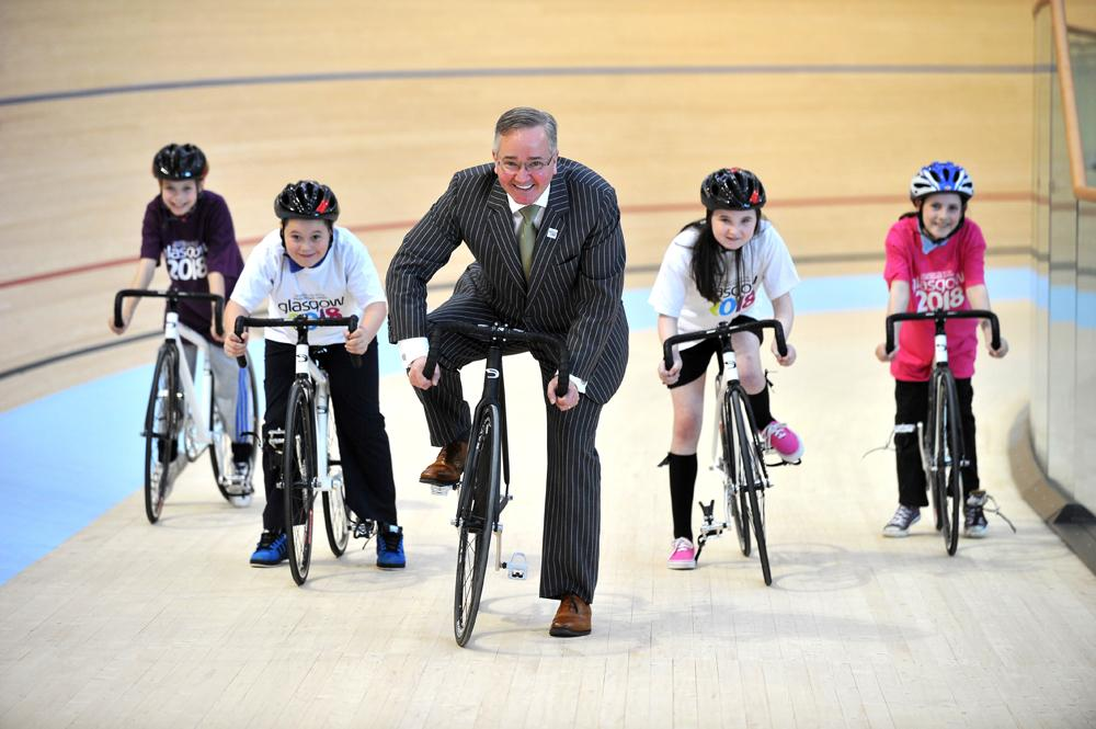 Councillor Gordon Matheson, leader of Glasgow City Council, at the official opening of the Emirates Arena