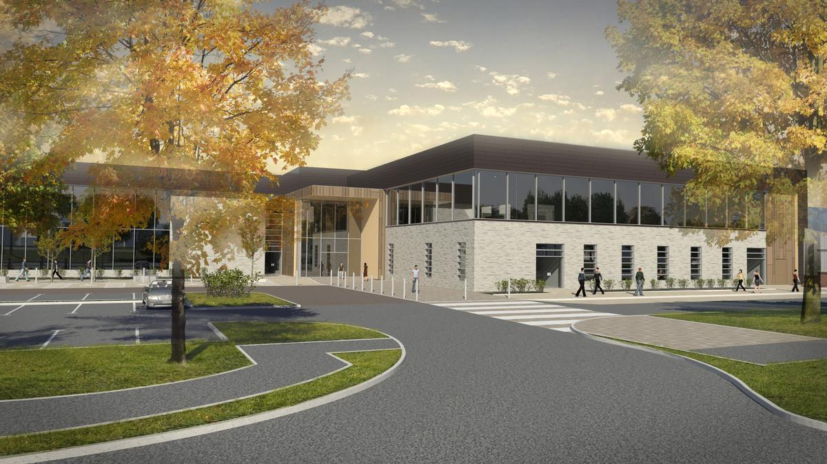An Artist S Impression Of How The New Graves Tennis And Leisure Centre Will Look When It Opens