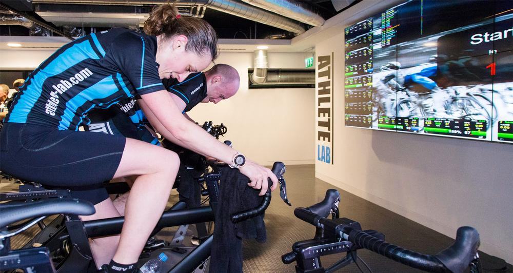 Members at the London club are 50 per cent cyclists, 50 per cent triathletes, who want to complement their outdoor training