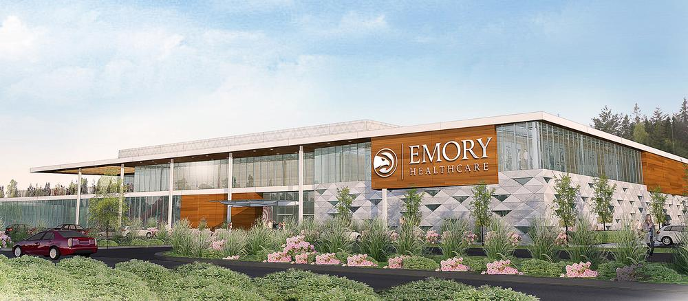 The Emory Healthcare centre was designed by sport architects HOK and will be located in the Brookhaven region of Atlanta