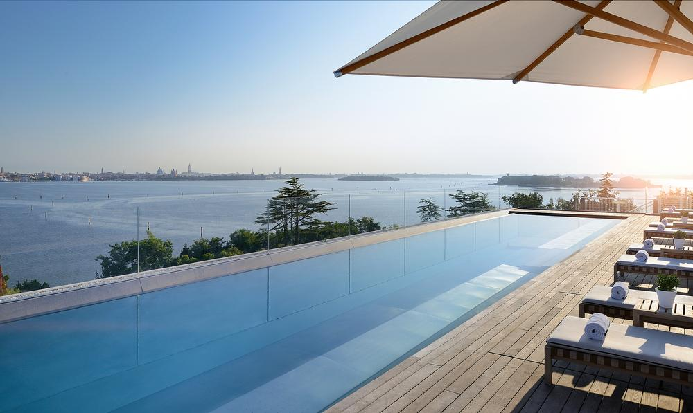 The outdoor pool deck offers views across to Venice / PHOTO: JW MARRIOTT INTERNATIONAL
