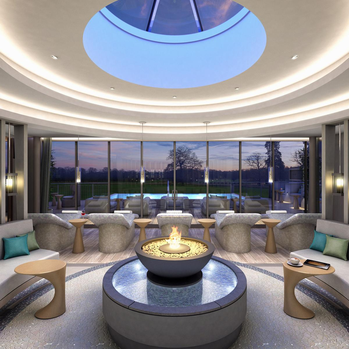 Artist's impressions of the new spa garden at Rockliffe Hall / Rockliffe Hall