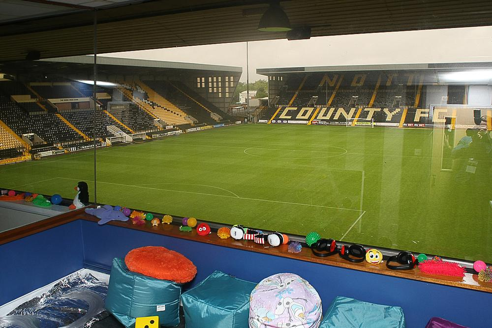Notts County FC now has three sensory rooms with space for 24 people