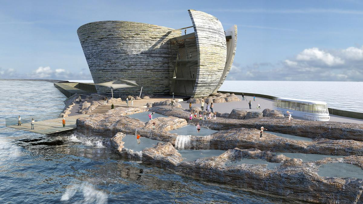 Juice Architects have led the design of the visitor centre, which is inspired by oysters / Juice Architects