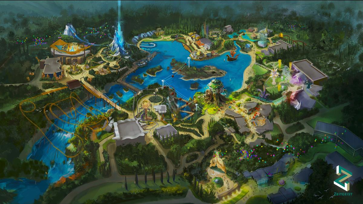The immersive theme park experience in the Lido Lakes region will be set across 40 hectares