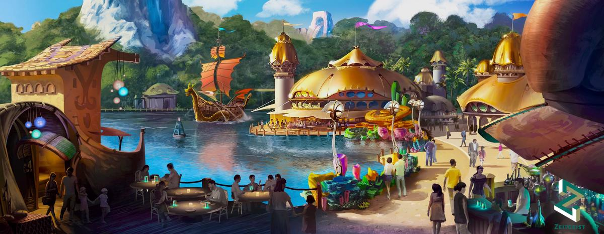 To feature a collection of adventure-themed rides, shows and attractions, the park will be split across six themed areas