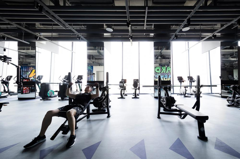The gym offers 11 dedicated workout zones, a 25m lap pool, an extensive wet area, several studios and a juice bar