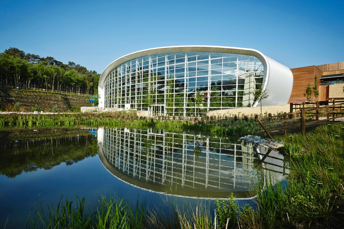 Center Parcs Woburn Forest, designed by Holder Mathias Architects won the Best Hotel & Tourism Resort Award / MIPIM