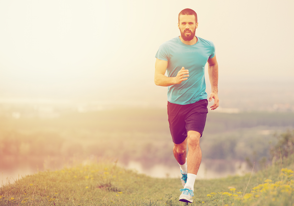 Running outside instead of on a treadmill has the added benefits of fresh air, vitamin D, interaction with phytoncides and distance-looking / shutterstock
