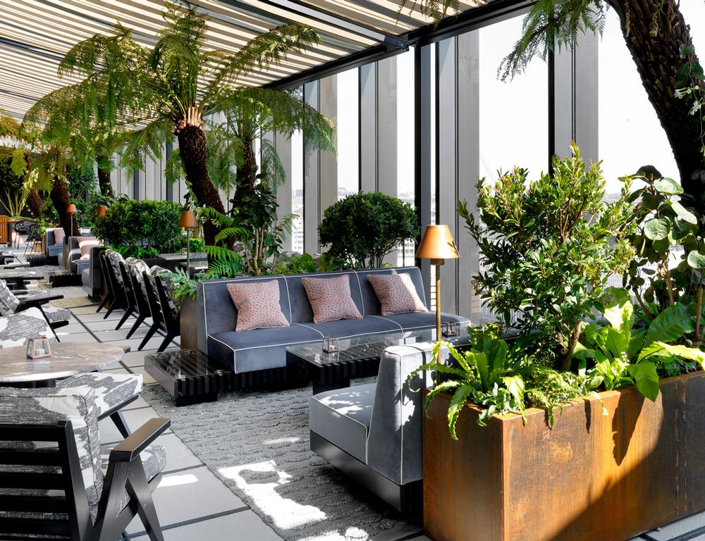 The Ninth floor terrace is among eight social and dining spaces around the club