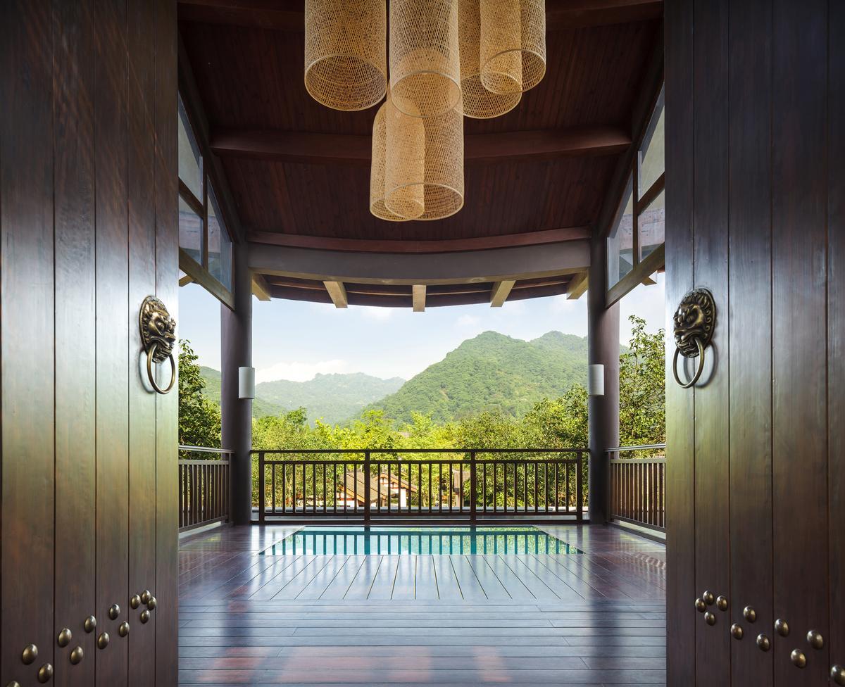 The Six Senses Qing Cheng Mountain welcome pavilion / Six Senses