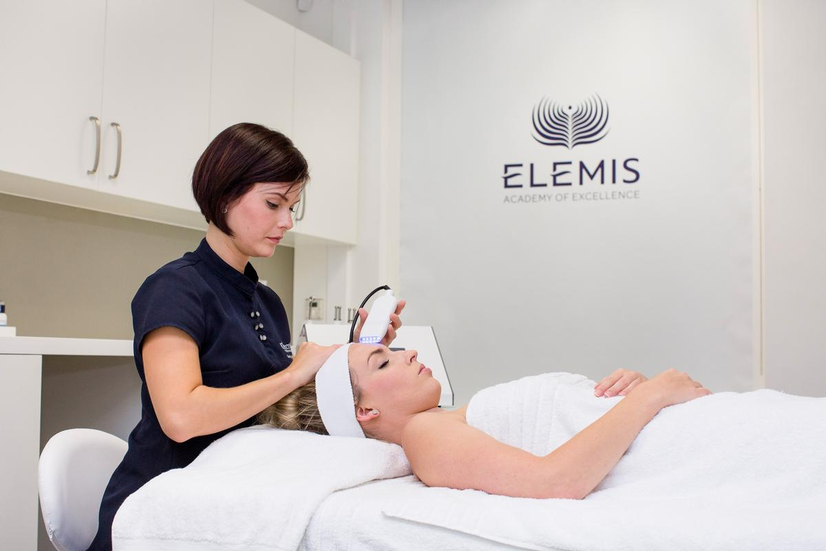 The training centre teaches technology, hands-on treatments, understanding the strengths of great actives and formulation, knowledge of consultation, client retention and closing of a sale / Elemis
