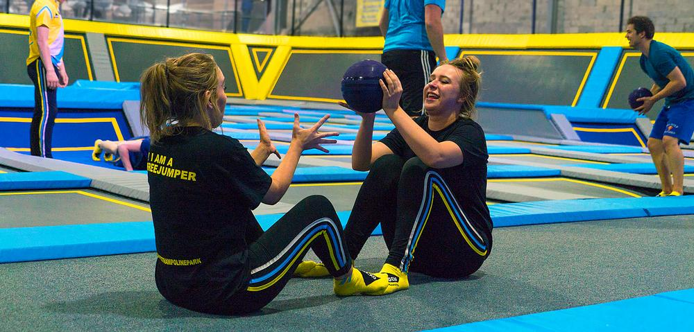 Many parks offer trampoline-based fitness classes for adults