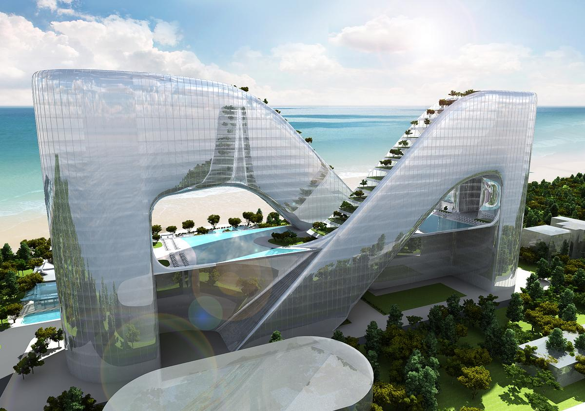 With 946 rooms and a scenic location, the hotel will host visitors to the 2018 Winter Olympics in PyeongChang / Planning Korea