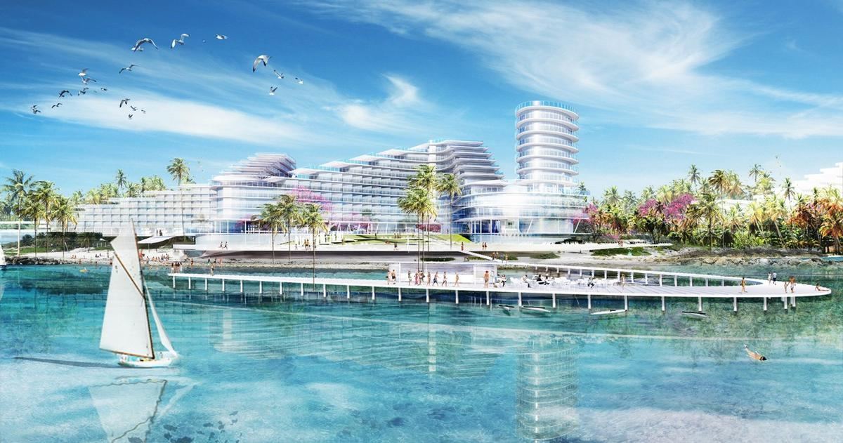 The resort will feature a base for lovers of water sports / TEN Arquitectos