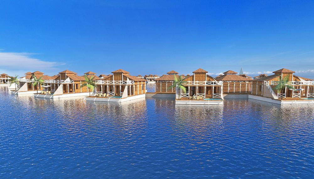 FIve Lagoons, which includes Ocean Flower, is a collaboration between master developer Dutch Docklands and the Maldives' government.Waterstudio is the architect