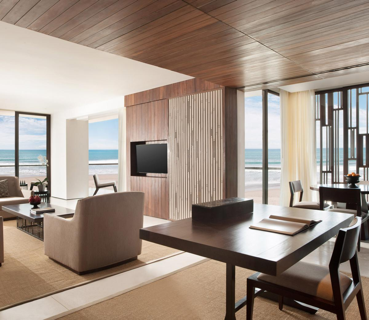 The Alila Seminyak includes 240 bedrooms with contemporary styling / Alila