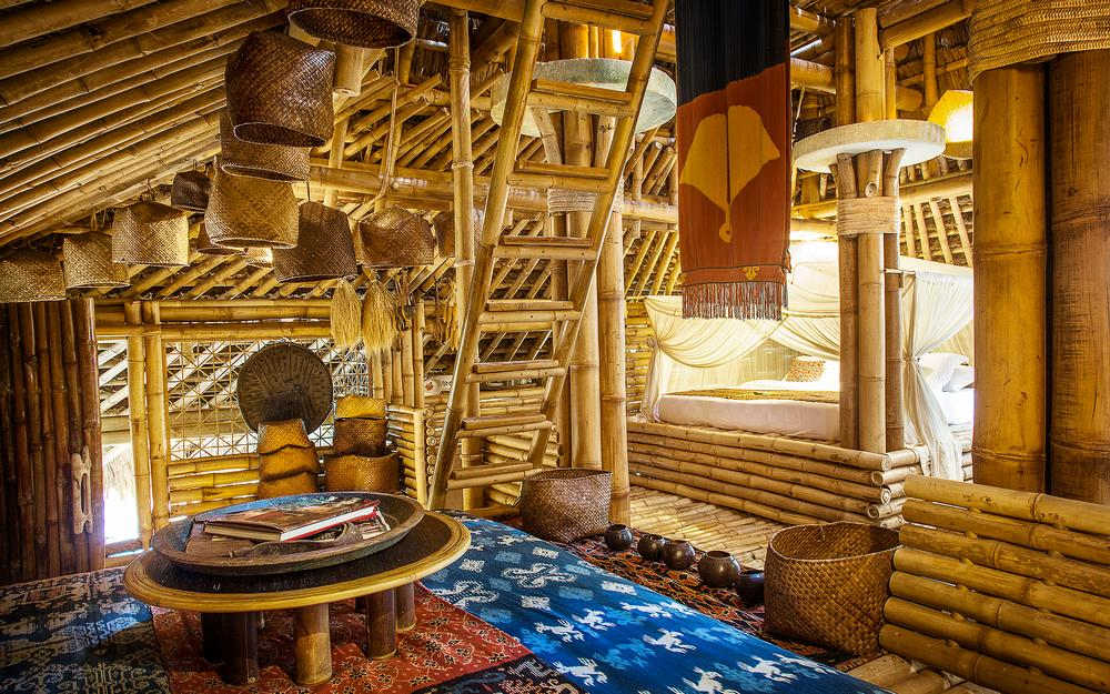 Sumba House at Bambu Indah is a replica of a real Sumba house with its distinctive tall roof / ©Brian Hodges Photography