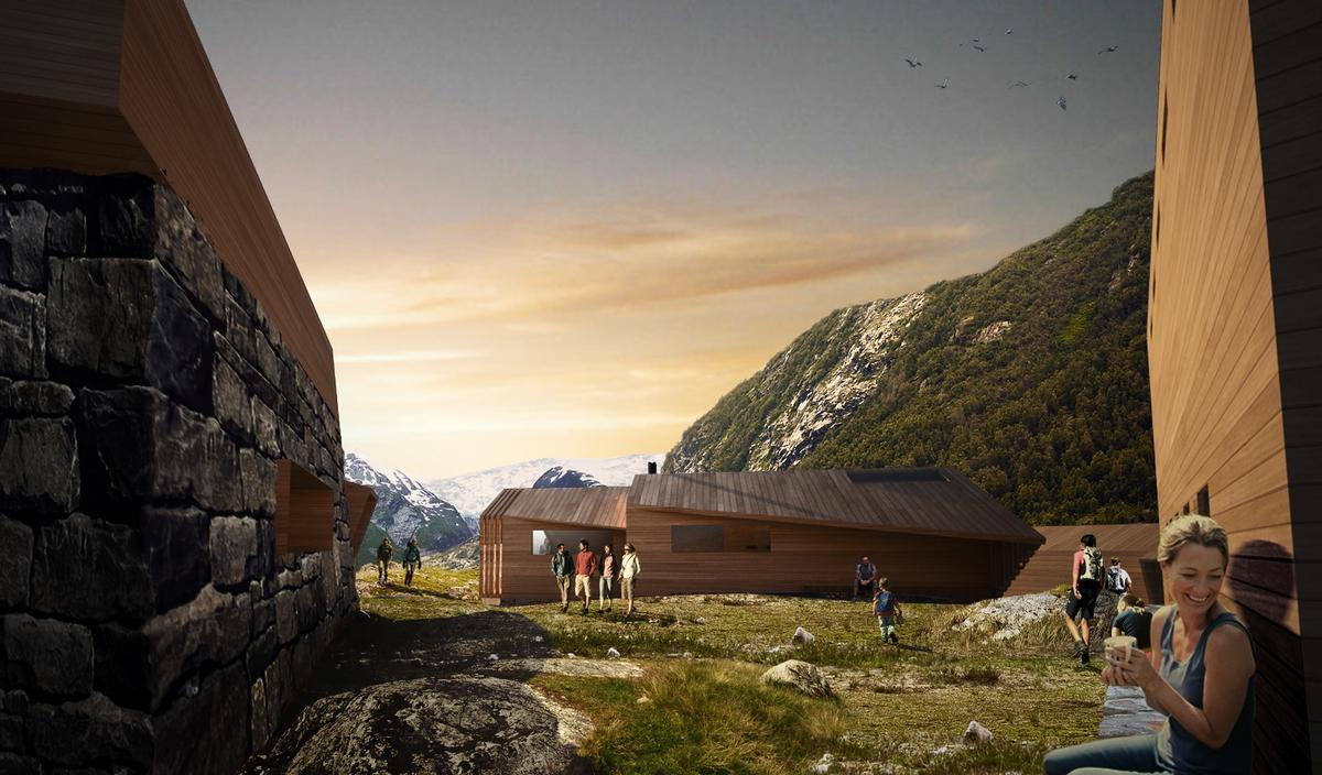 Snøhetta said: 'Mountains can help build relations between the individual self and the outside world, and we wanted our cabins to do the same' / Snøhetta