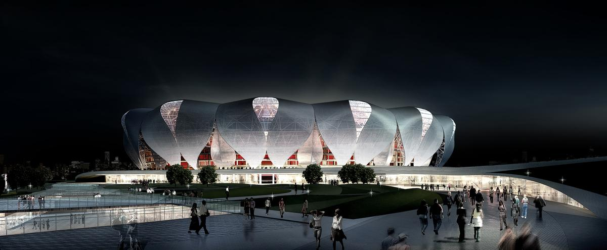 The stadium will serve Hangzhou - a city which has tripled in size in the last decade / NBBJ Design