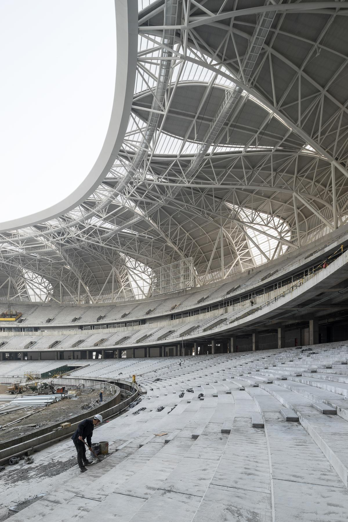 The stadium will host the 2022 Asian Games / NBBJ Design