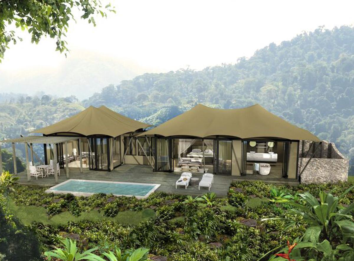 Rainforest Bedroom Luxury Tents Swim Up Bar And Hot Spring Plunge Pools Added To