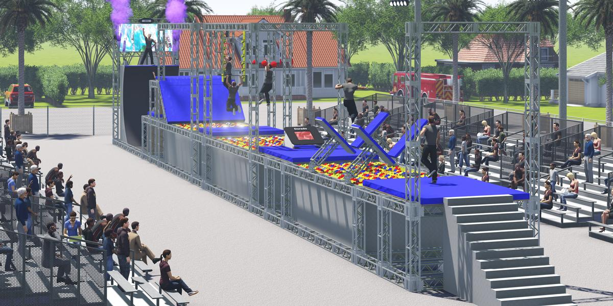 Each Ninja Warrior course can be designed and built to be completely bespoke to each venue's size layout and budget