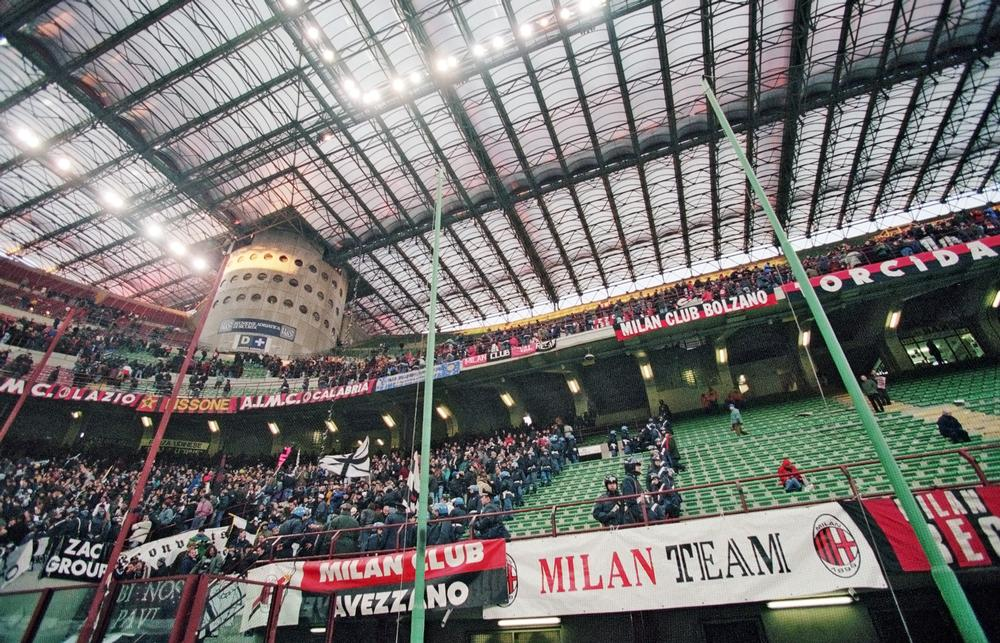 Home to AC Milan and Inter Milan, the 80,000-seat San Siro stadium is rarely full / PA