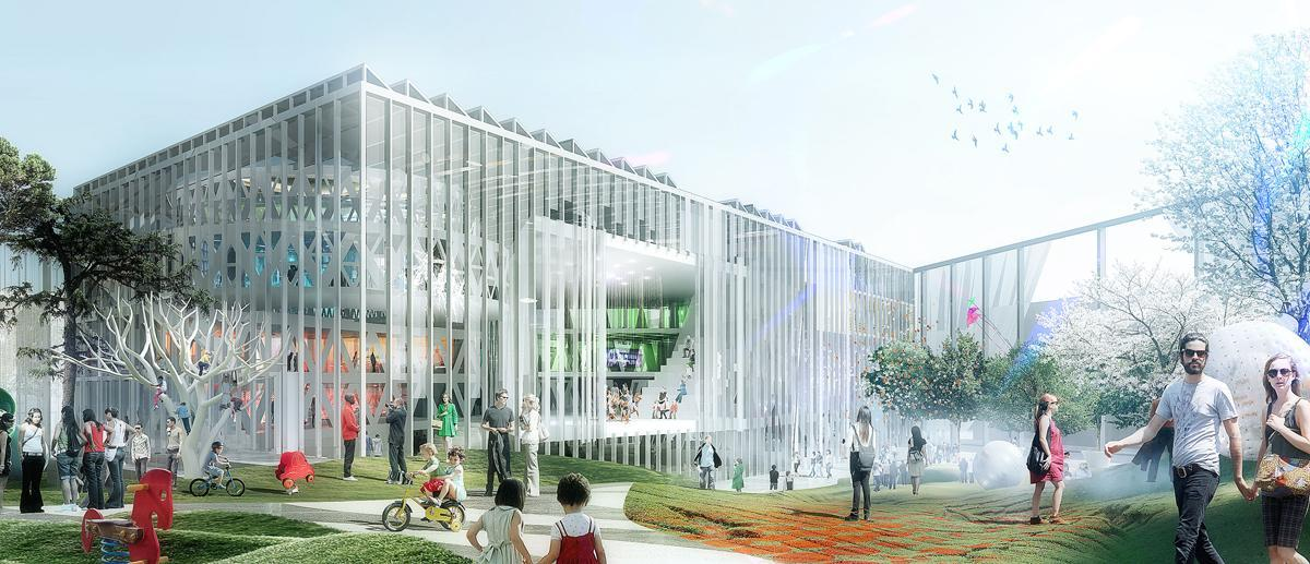 The House of Culture and Movement in Copenhagen by ADEPT and MVRDV