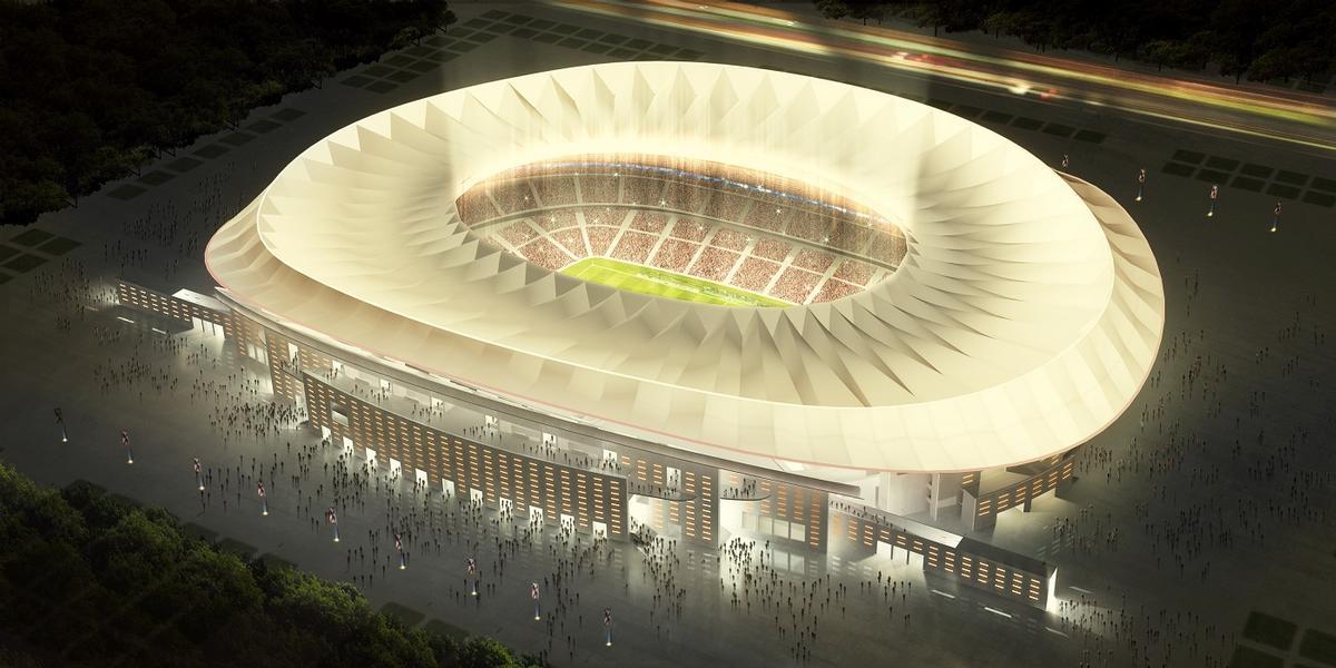 Estadio La Peineta in Madrid by Cruz y Ortiz Arquitectos