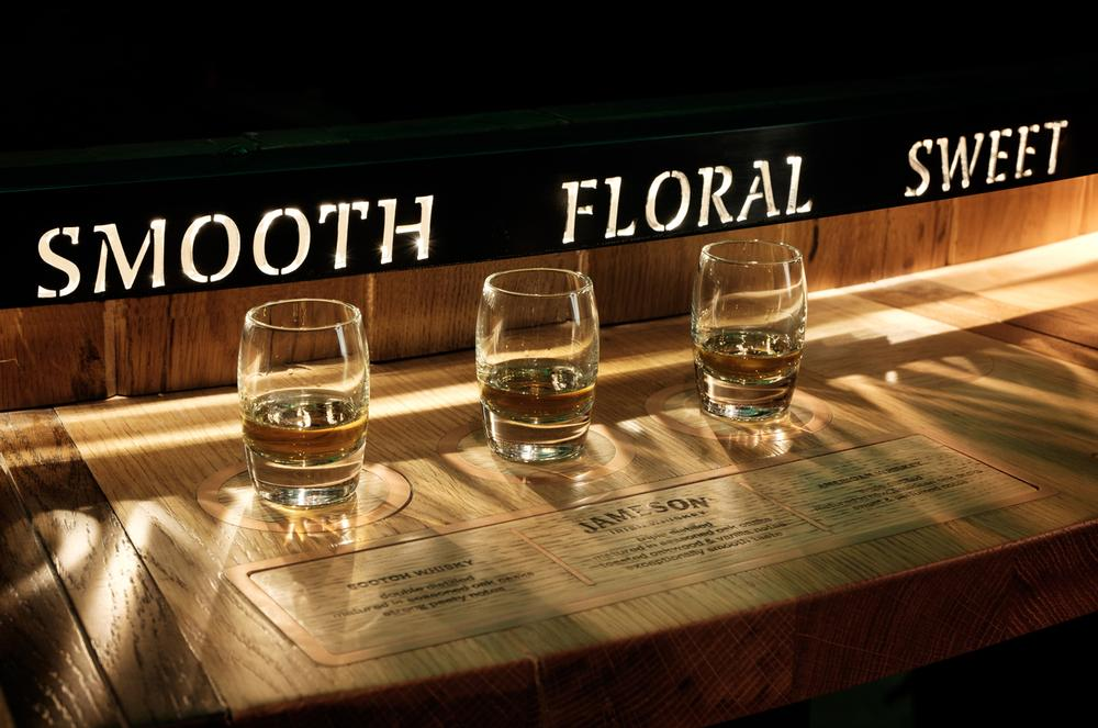 As part of the experience, guests learn about the whiskey-making process