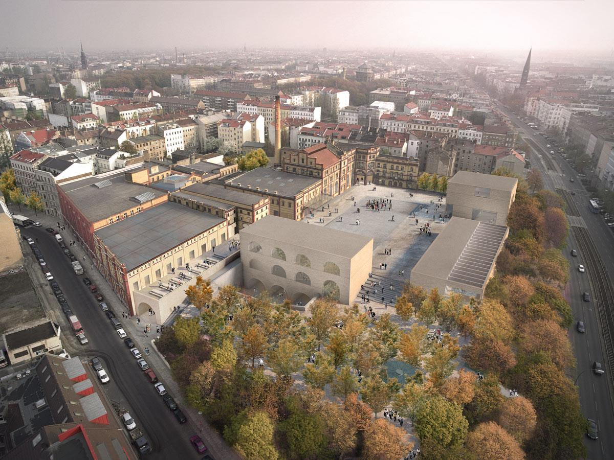 Opened in 1885, the Bötzow Brewery was once one of northern Germany's largest private breweries / Reindeer Renderings for David Chipperfield Architects
