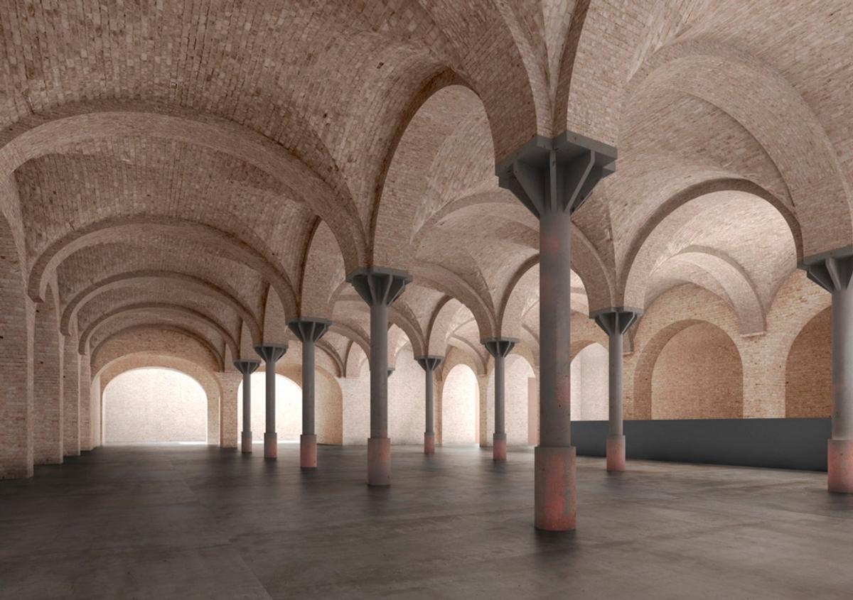 Since 1950, the brewery's surviving buildings have been used as storage space / Reindeer Renderings for David Chipperfield Architects
