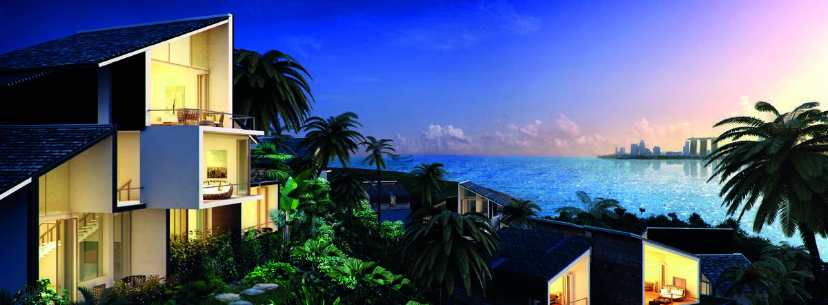 The resort is only 20 minutes by boat from Singapore's Sentosa Cove