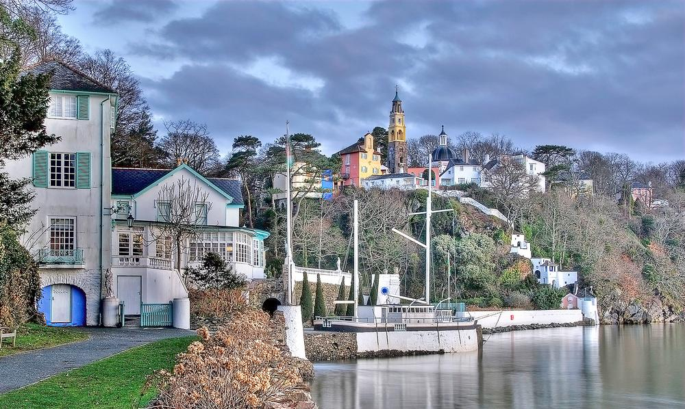 The Italianate tourist village of Portmeirion, Wales, was inspired by Mediterranean architecture