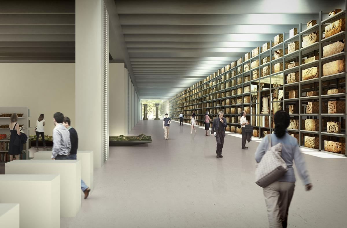 Visitors will be able to watch archaeologists restoring the ancient exhibits / Foster + Partners
