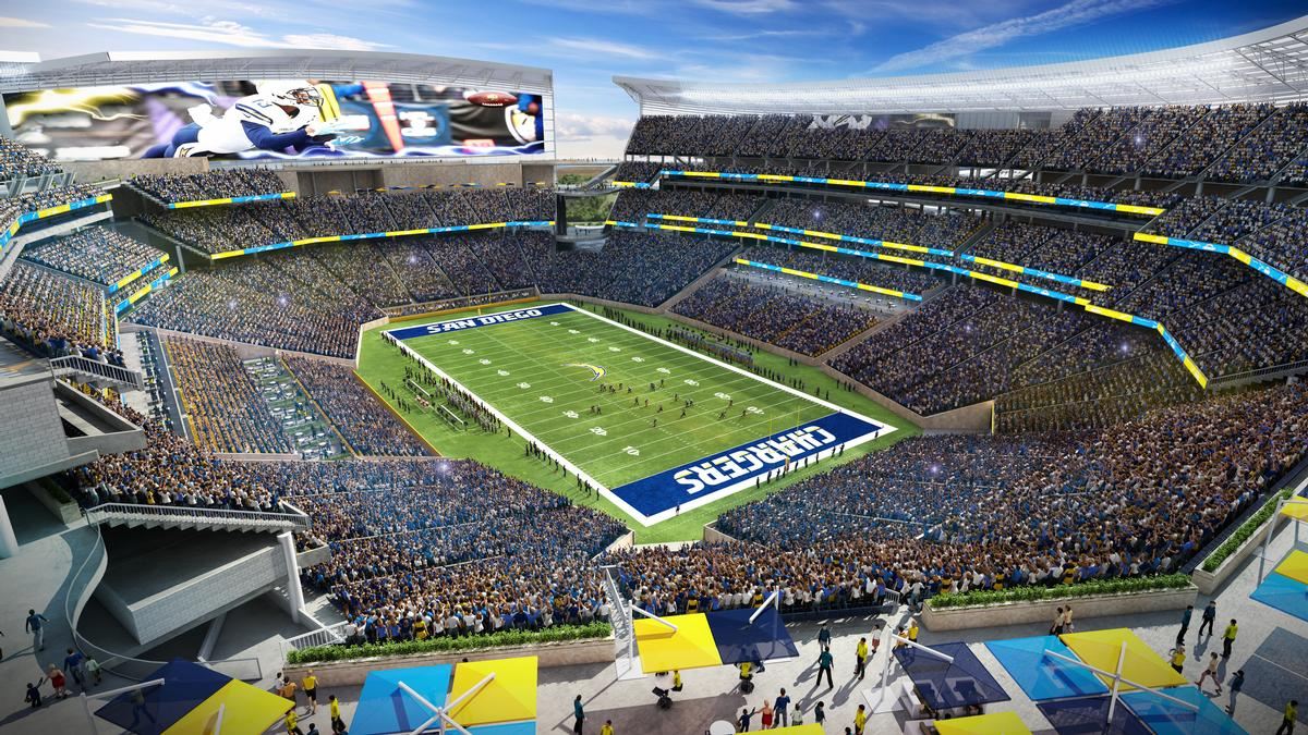 The Interior Seating Bowl Draws On Citys Valleys With Fractures In Corners To Allow Views And Out Of Stadium City San Diego Populous