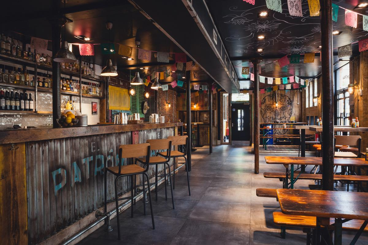The 'Mexican playground' will feature exposed brick walls, Latino inspired artwork, colourful shutters and reclaimed material from former warships / El Patron